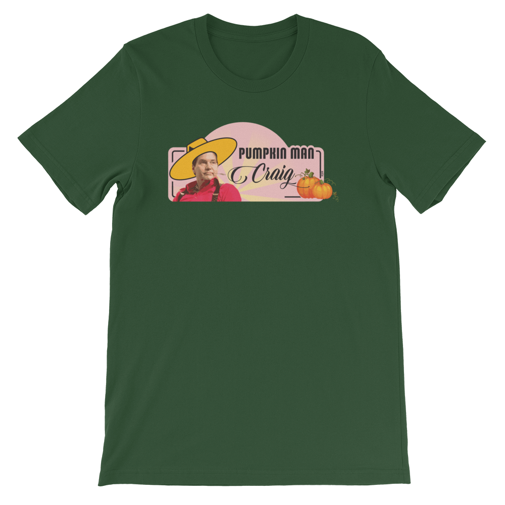 Pumpkin Man Craig Short-Sleeve T-Shirt Forest S - zeroconfs