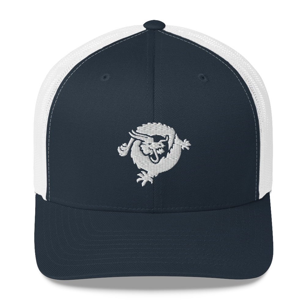 Bitcoin SV Dragon Trucker Cap White Navy/ White  - zeroconfs