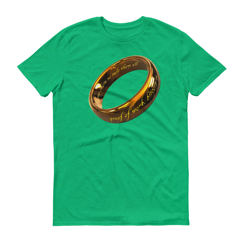 One Chain To Rule Them All Bitcoin SV Short-Sleeve T-Shirt Heather Green S - zeroconfs