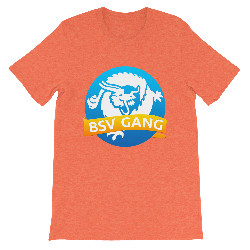 Bitcoin SV Gang Short-Sleeve T-Shirt Heather Orange S - zeroconfs