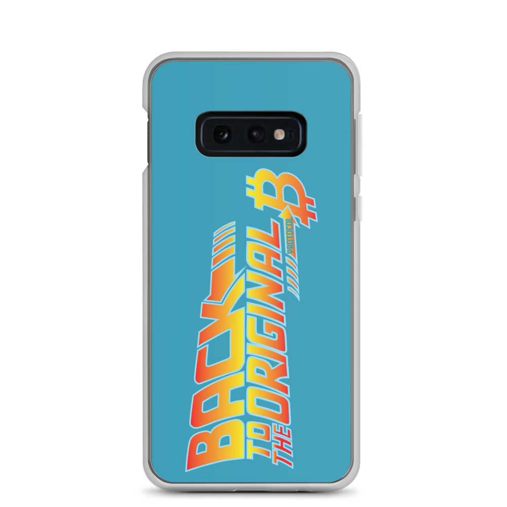 Back To The Original Bitcoin Protocol Samsung Case Blue Samsung Galaxy S10e  - zeroconfs
