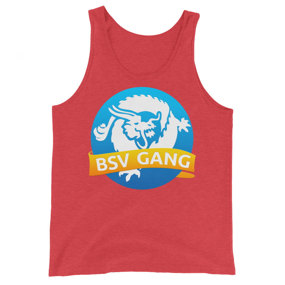 Bitcoin SV Gang Tank Top Red Triblend XS - zeroconfs
