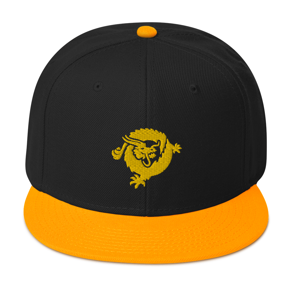 Bitcoin SV Dragon Snapback Hat Yellow Visor Default Title  - zeroconfs