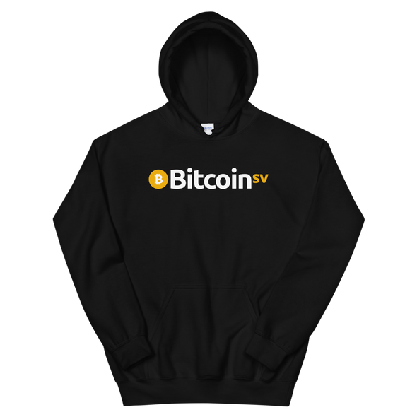 Bitcoin SV Hooded Sweatshirt Black S - zeroconfs