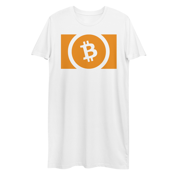 Bitcoin Cash Premium T-Shirt Dress White XS - zeroconfs