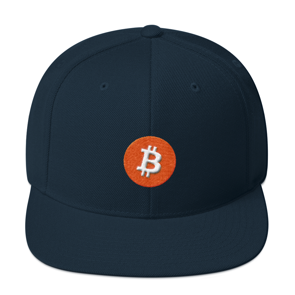 Bitcoin Core Snapback Hat Dark Navy  - zeroconfs