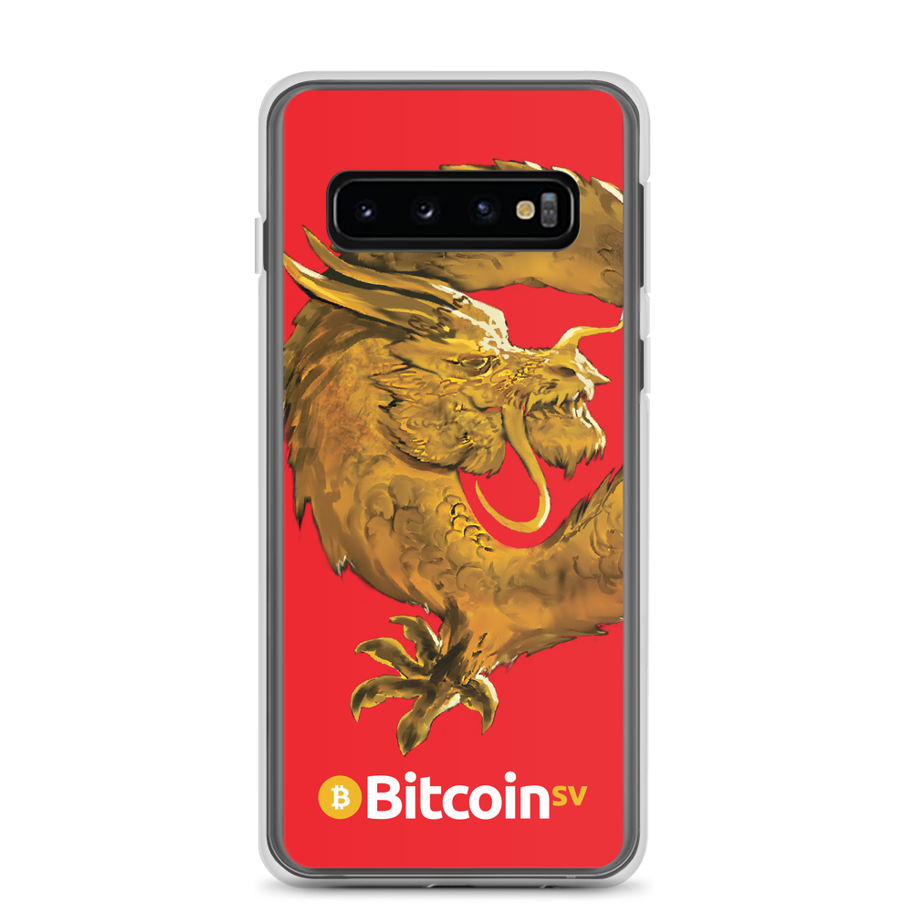 Bitcoin SV Woken Dragon Samsung Case Red Samsung Galaxy S10  - zeroconfs