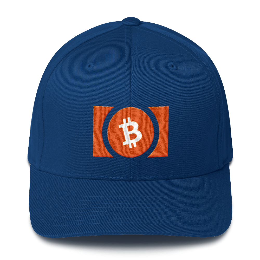 Bitcoin Cash Flexfit Cap Royal Blue S/M - zeroconfs