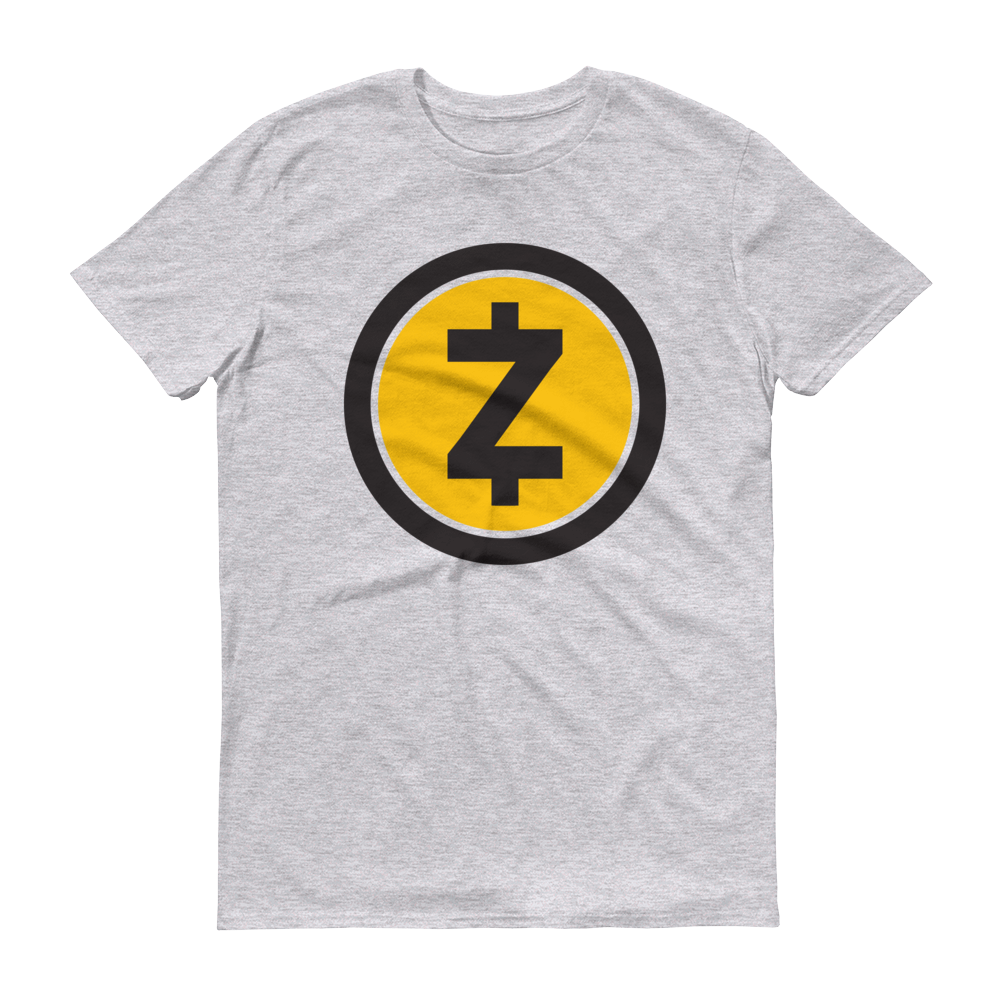 Zcash Short-Sleeve T-Shirt Heather Grey S - zeroconfs