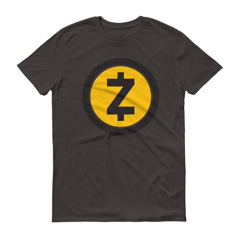 Zcash Short-Sleeve T-Shirt Smoke S - zeroconfs