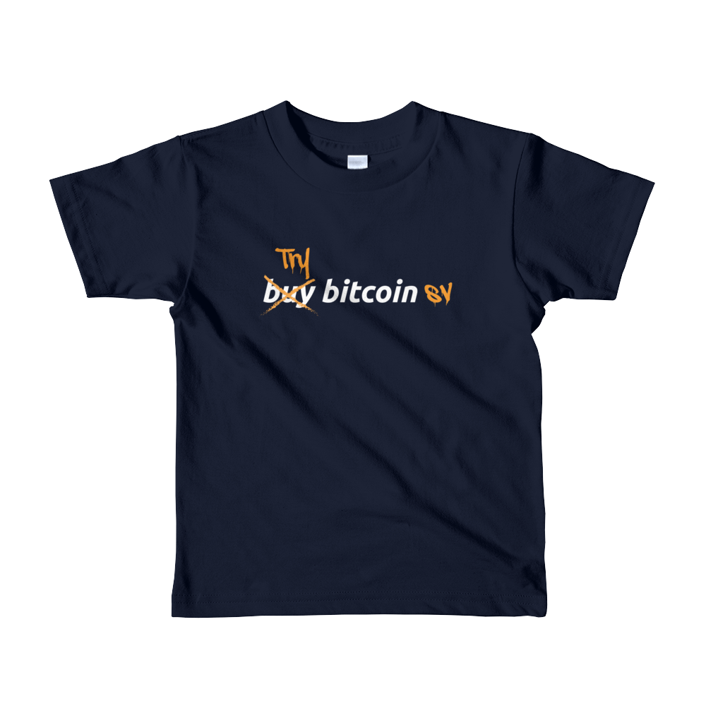 Try Bitcoin SV Short Sleeve Kids T-Shirt Navy 2yrs - zeroconfs