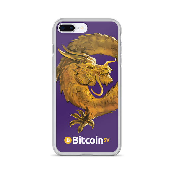 Bitcoin SV Woken Dragon iPhone Case Purple iPhone 7 Plus/8 Plus  - zeroconfs