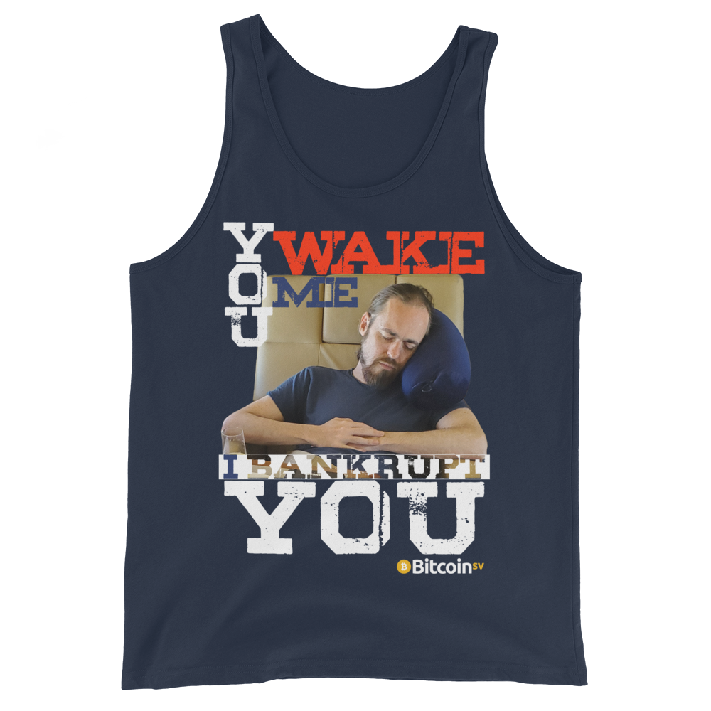 Don't Wake Shadders! Bitcoin SV Tank Top Navy XS - zeroconfs