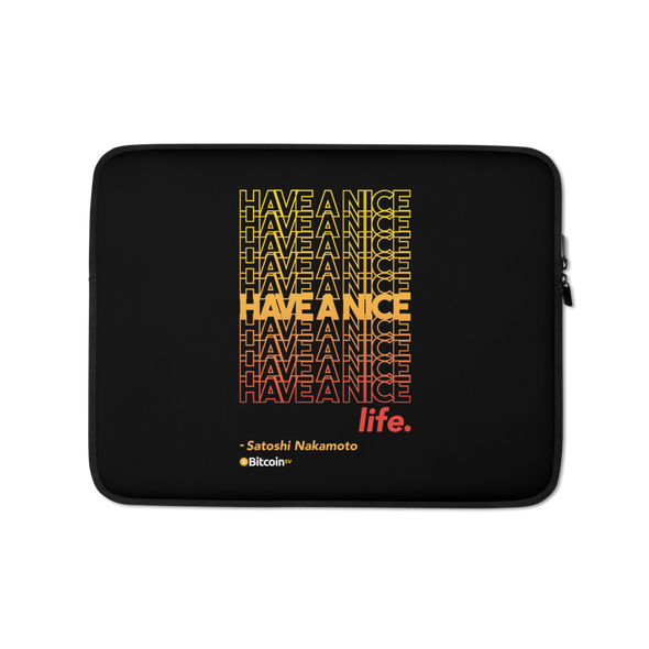 Have A Nice Life Bitcoin SV Laptop Sleeve 13 in  - zeroconfs