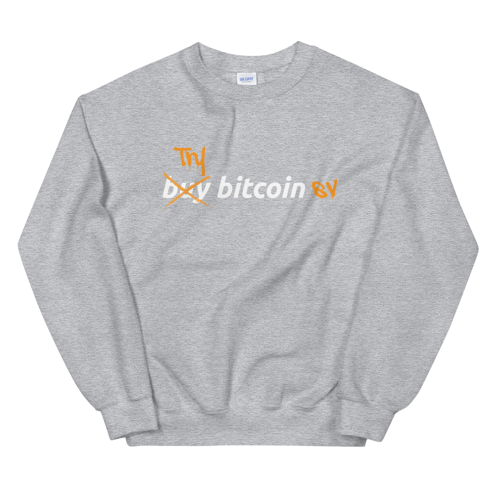 Try Bitcoin SV Women's Sweatshirt Sport Grey S - zeroconfs