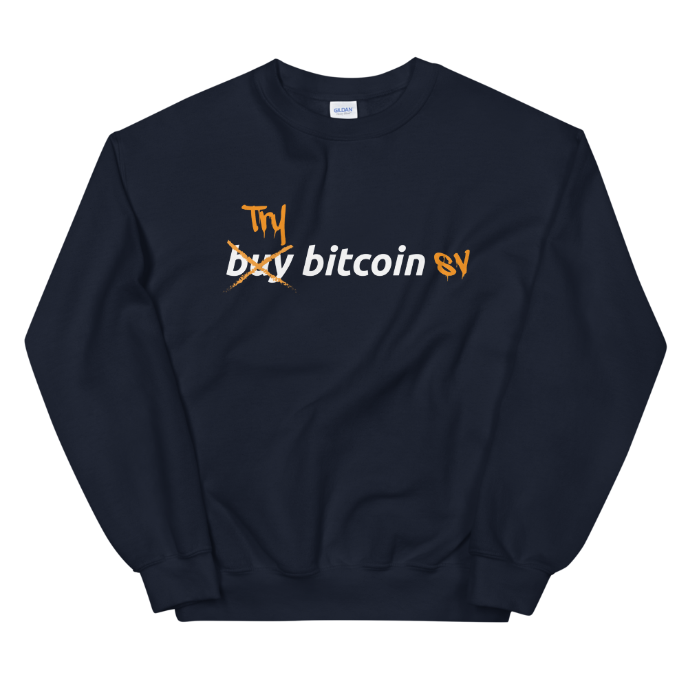 Try Bitcoin SV Women's Sweatshirt Navy S - zeroconfs