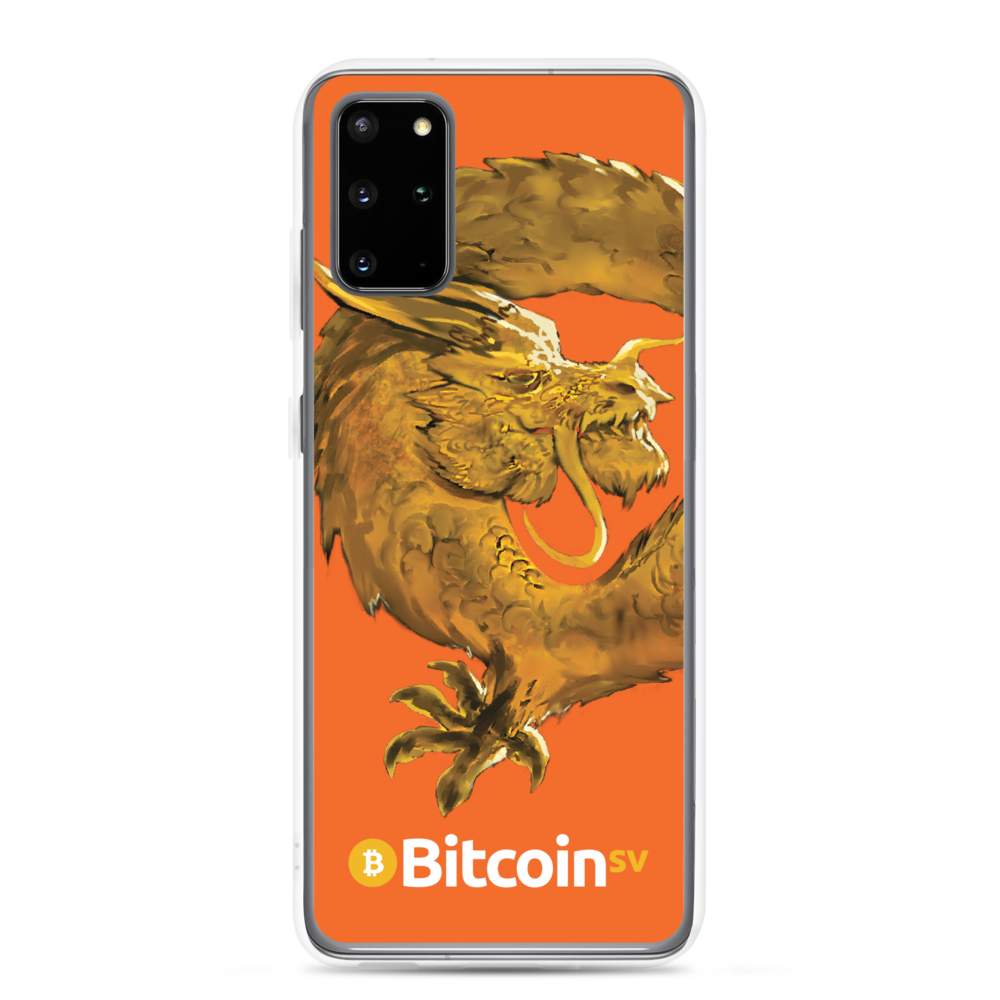 Bitcoin SV Woken Dragon Samsung Case Orange Samsung Galaxy S20 Plus  - zeroconfs
