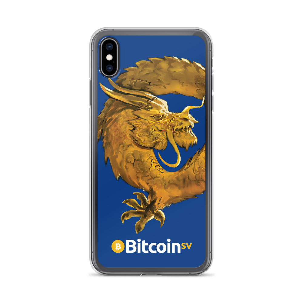 Bitcoin SV Woken Dragon iPhone Case Navy iPhone XS Max  - zeroconfs