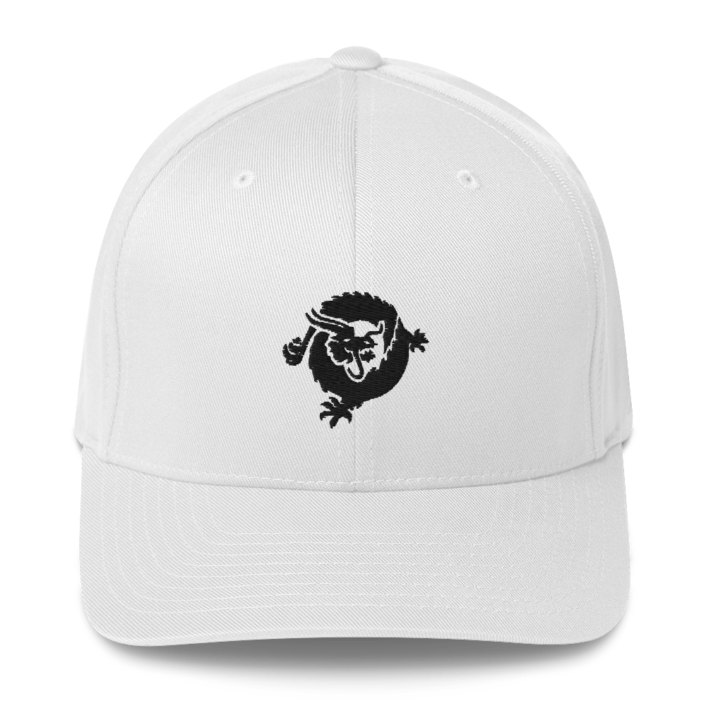 Bitcoin SV Dragon Flexfit Cap Black White S/M - zeroconfs