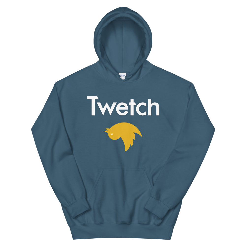 Twetch Hooded Sweatshirt Indigo Blue S - zeroconfs