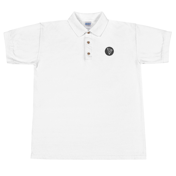 Tron Embroidered Polo Shirt White S - zeroconfs