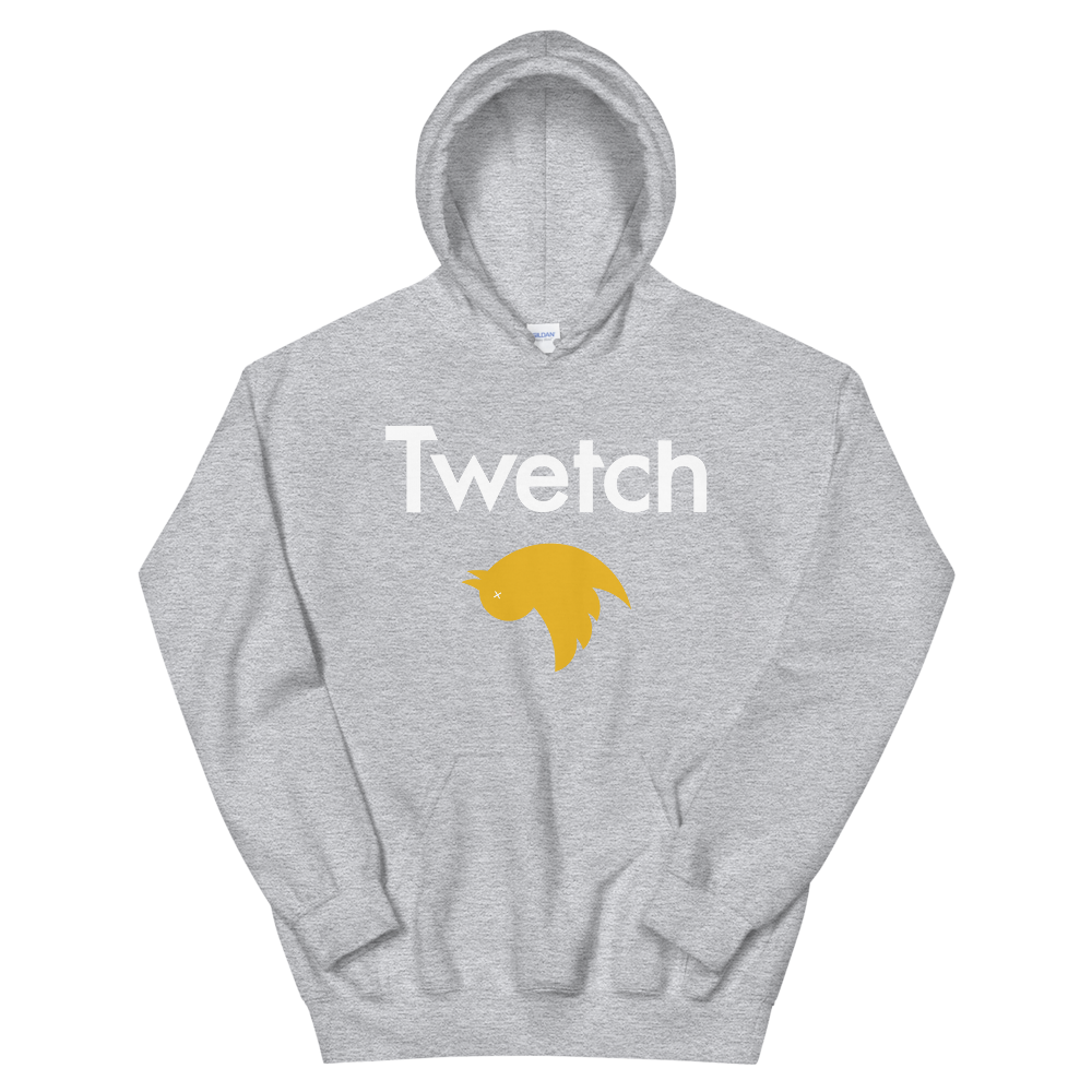 Twetch Hooded Sweatshirt Sport Grey S - zeroconfs