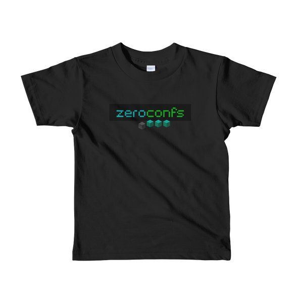 Zeroconfs.com Short Sleeve Kids T-Shirt Black 2yrs - zeroconfs