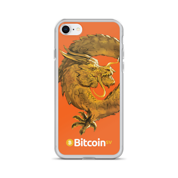 Bitcoin SV Woken Dragon iPhone Case Orange iPhone 7/8  - zeroconfs