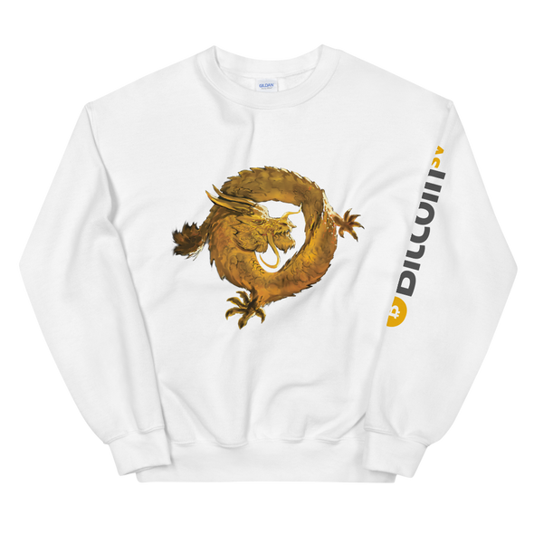 Bitcoin SV Woken Dragon Sweatshirt Sleeve White S - zeroconfs