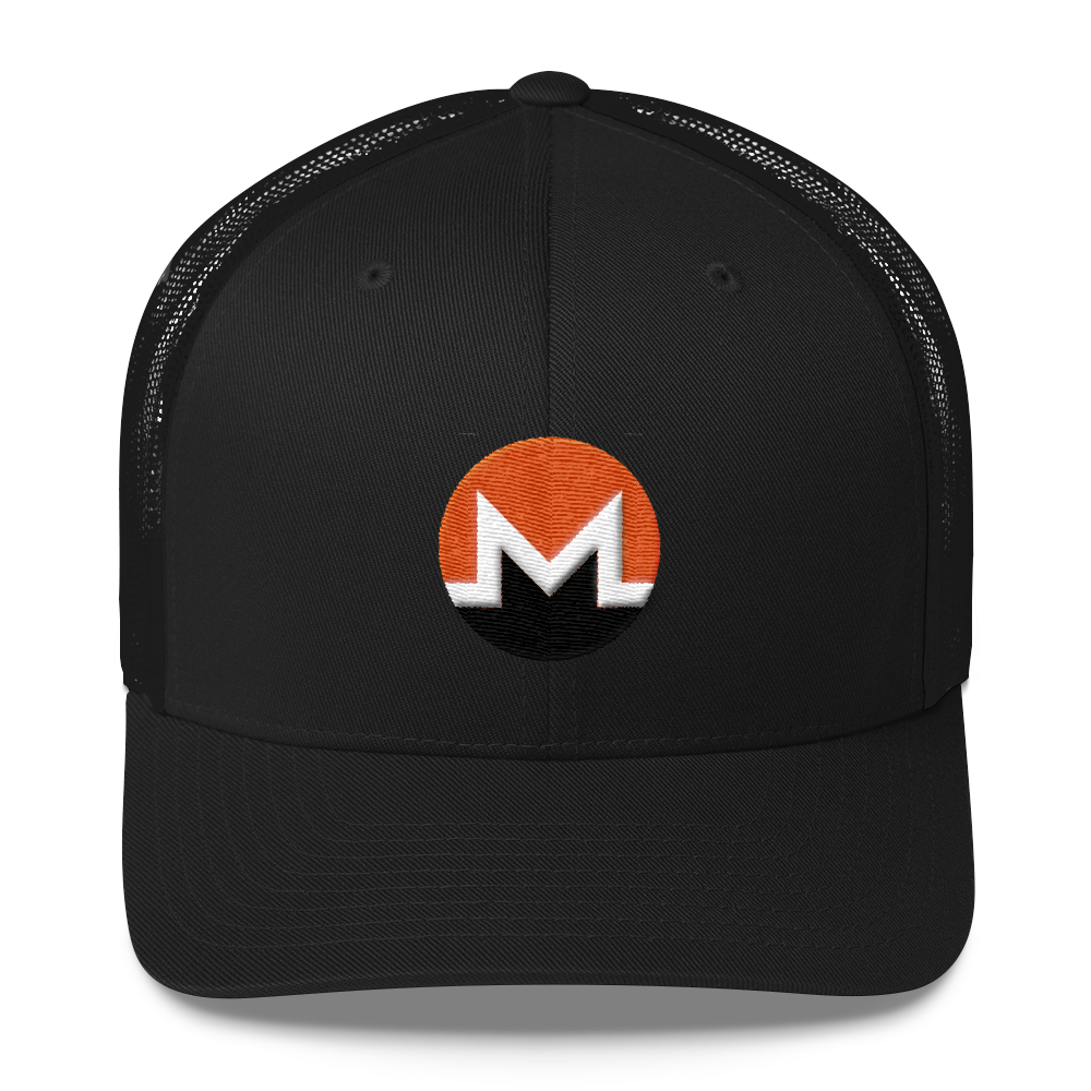Monero Trucker Cap Black  - zeroconfs