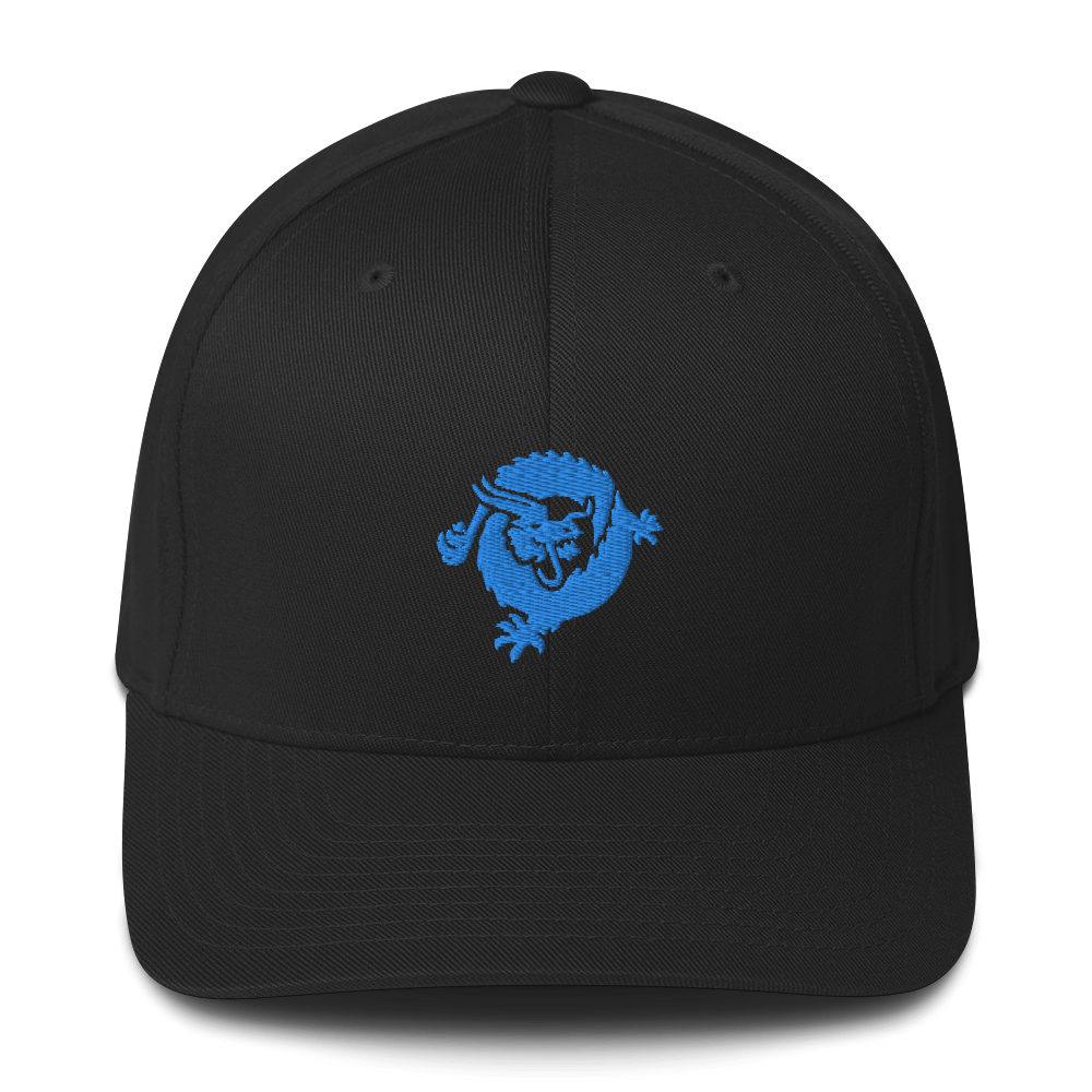 Bitcoin SV Dragon Flexfit Cap Blue Black S/M - zeroconfs