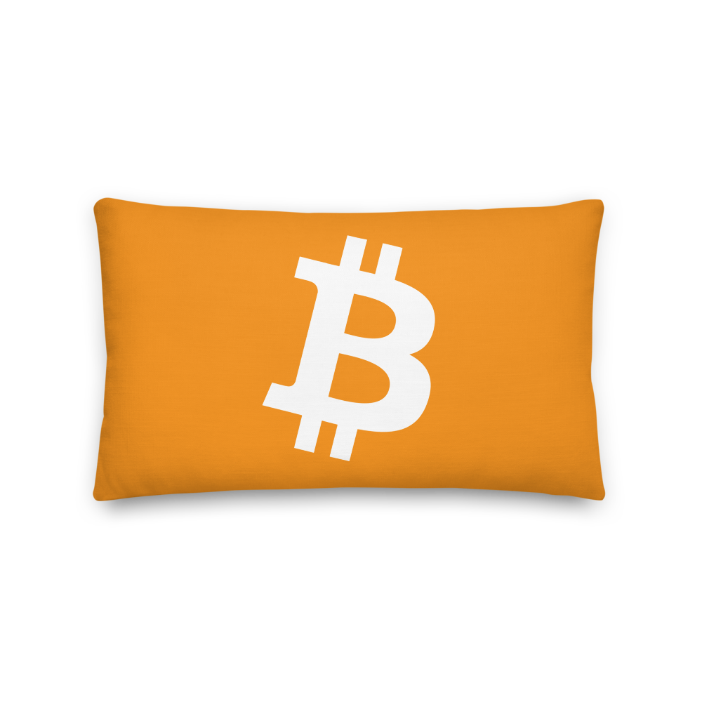 Bitcoin Core Premium Pillow 20×12  - zeroconfs
