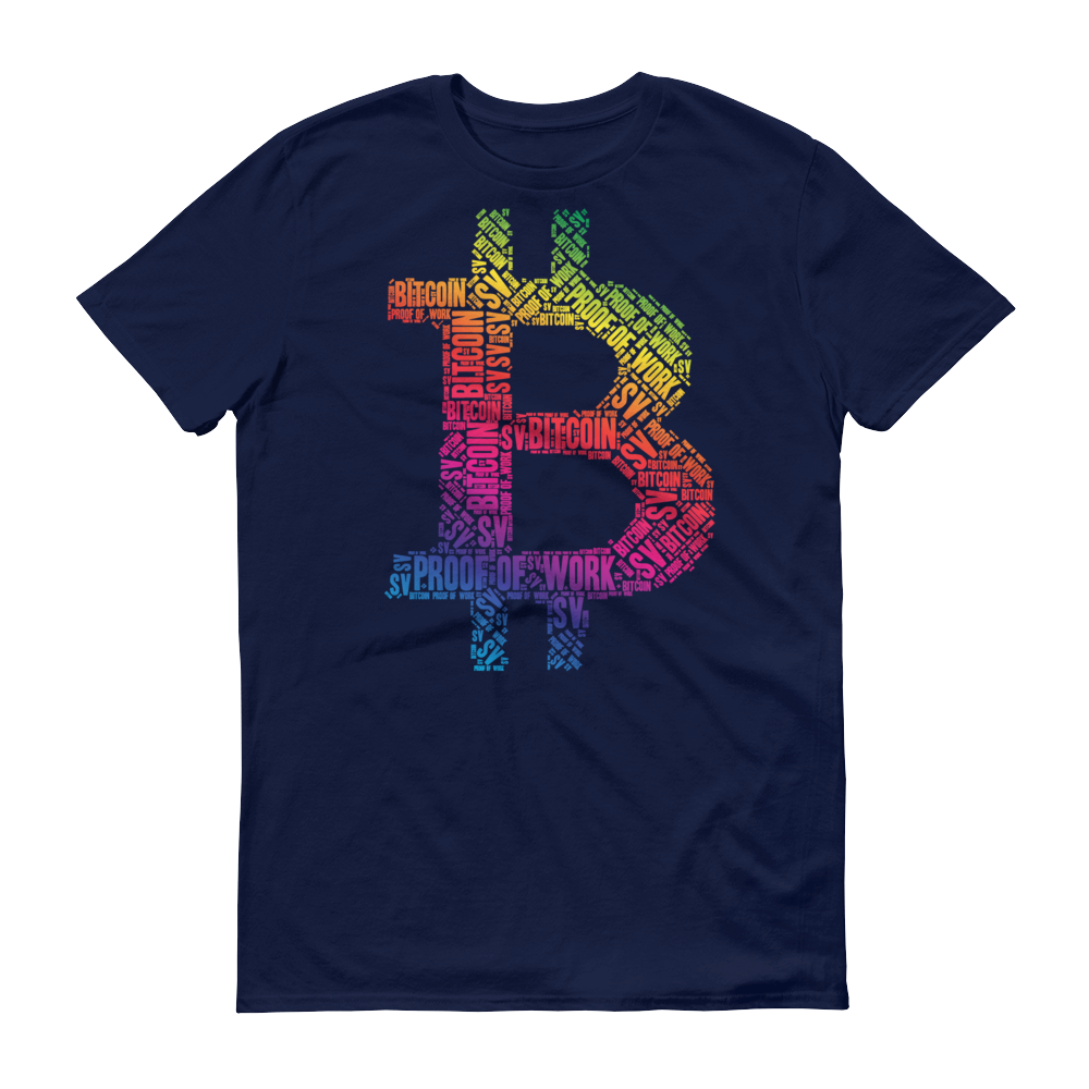 Bitcoin SV Proof Of Work Short-Sleeve T-Shirt Navy S - zeroconfs