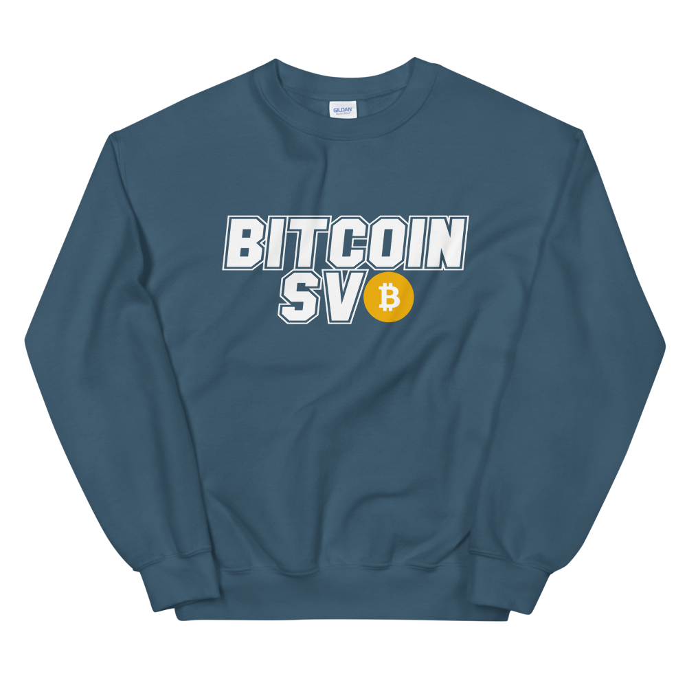 Bitcoin SV Sports Women's Sweatshirt Indigo Blue S - zeroconfs