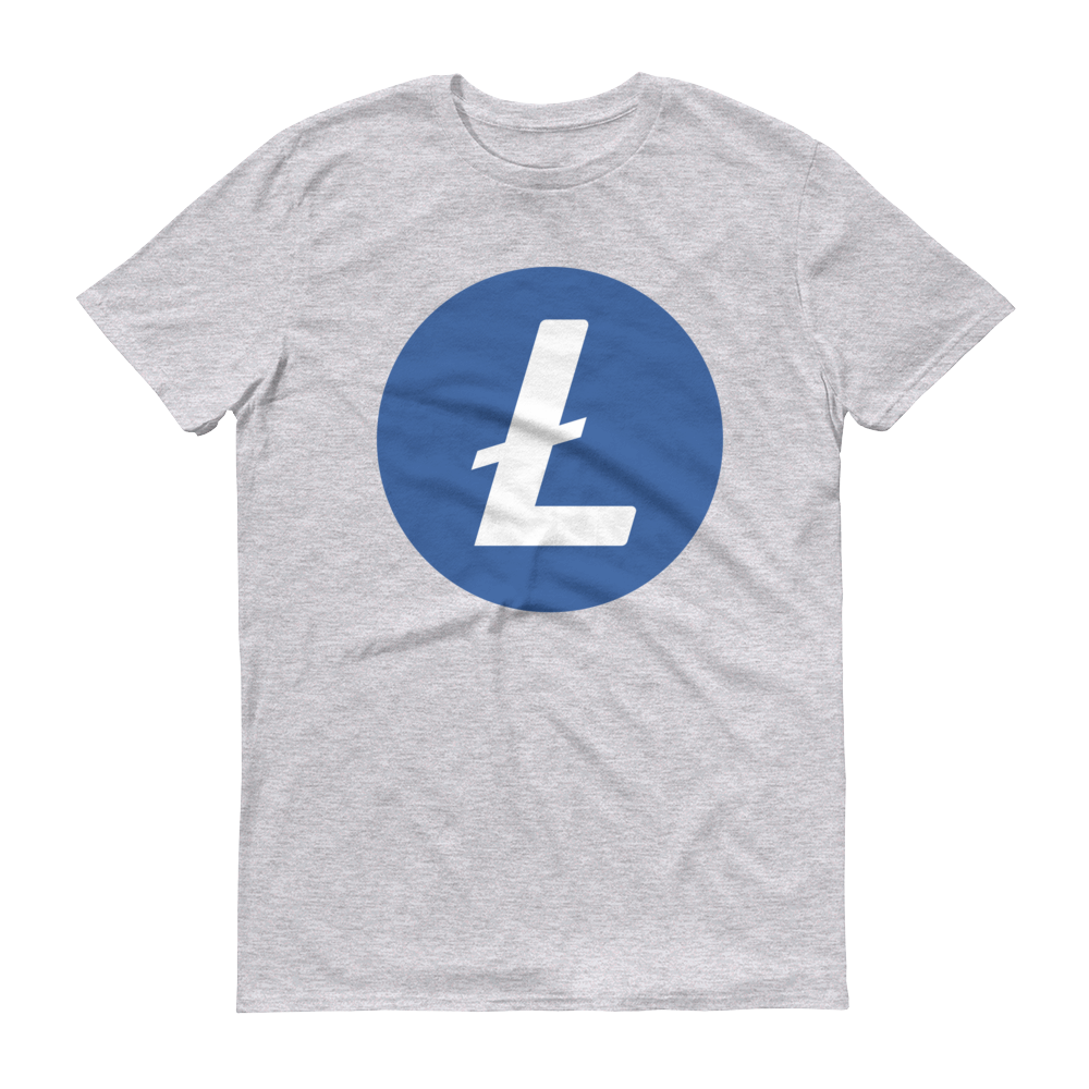Litecoin Short-Sleeve T-Shirt Heather Grey S - zeroconfs