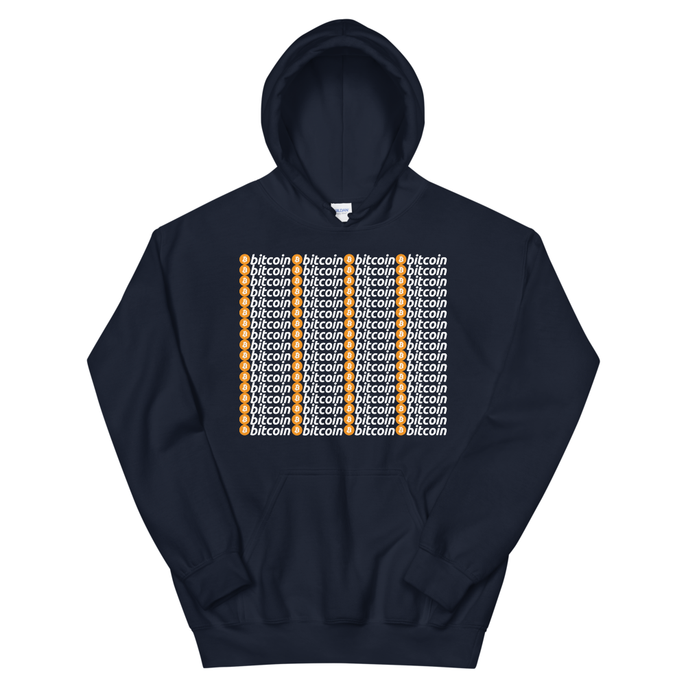 Bitcoins Hooded Sweatshirt Navy S - zeroconfs