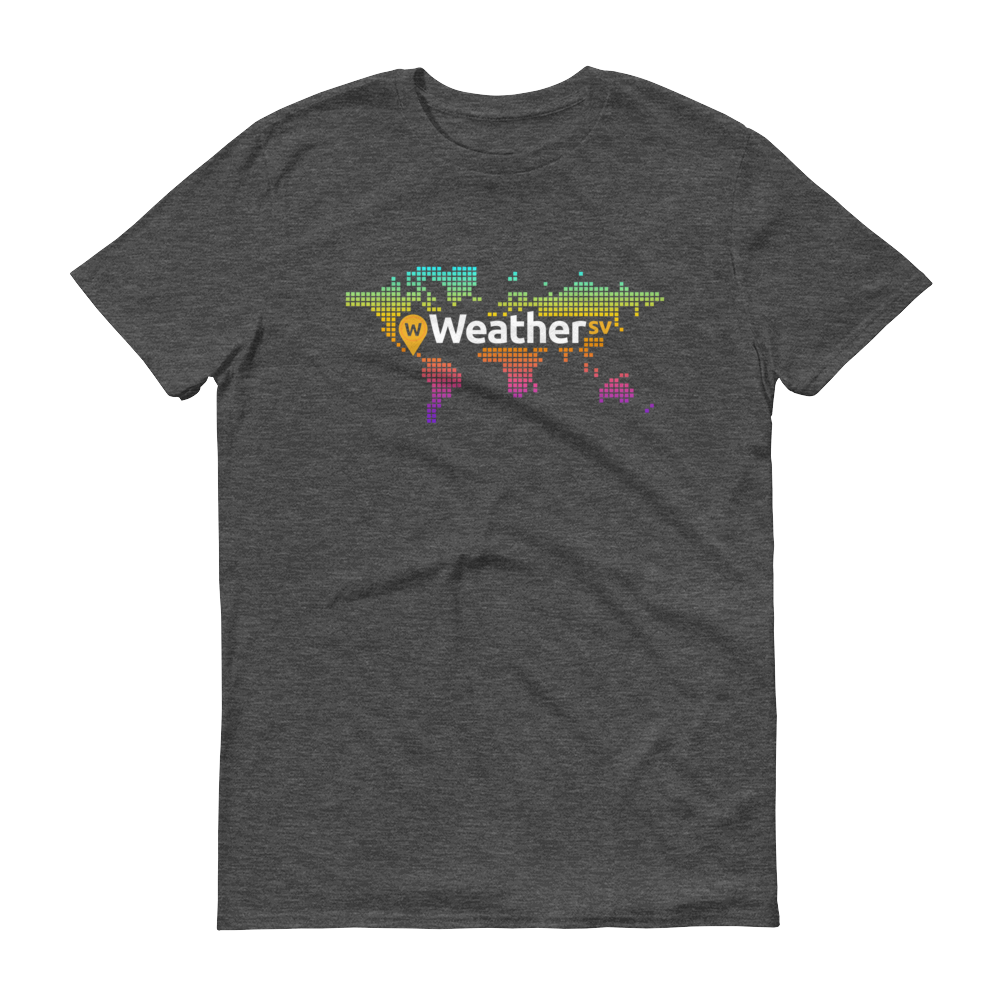Weather SV Short-Sleeve T-Shirt Heather Dark Grey S - zeroconfs