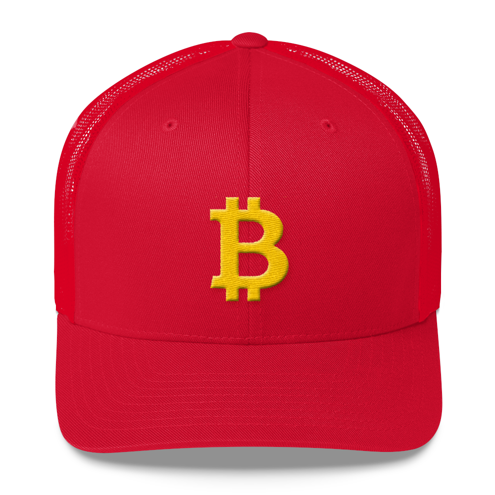Bitcoin B Trucker Cap Red  - zeroconfs