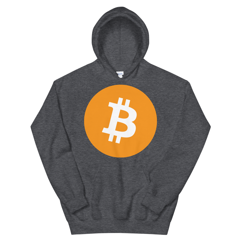 Bitcoin Core Hooded Sweatshirt Dark Heather S - zeroconfs