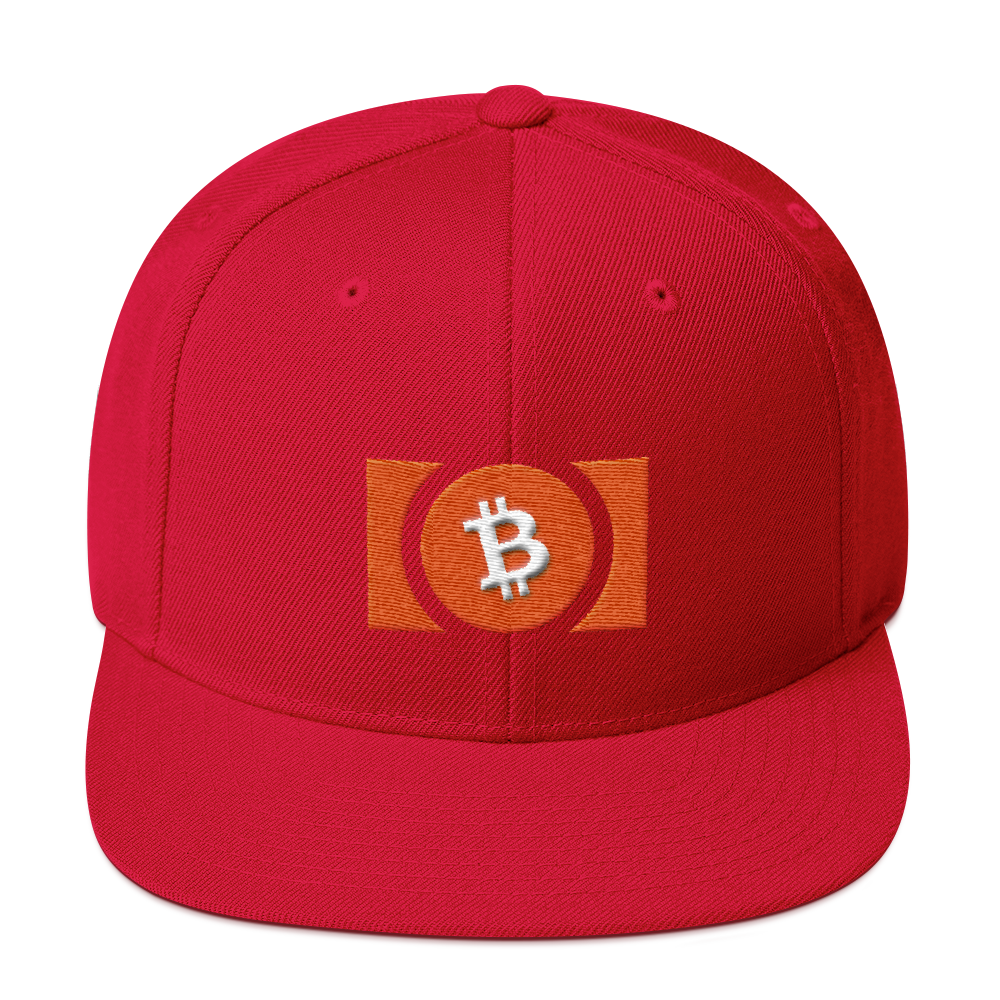 Bitcoin Cash Snapback Hat Red  - zeroconfs