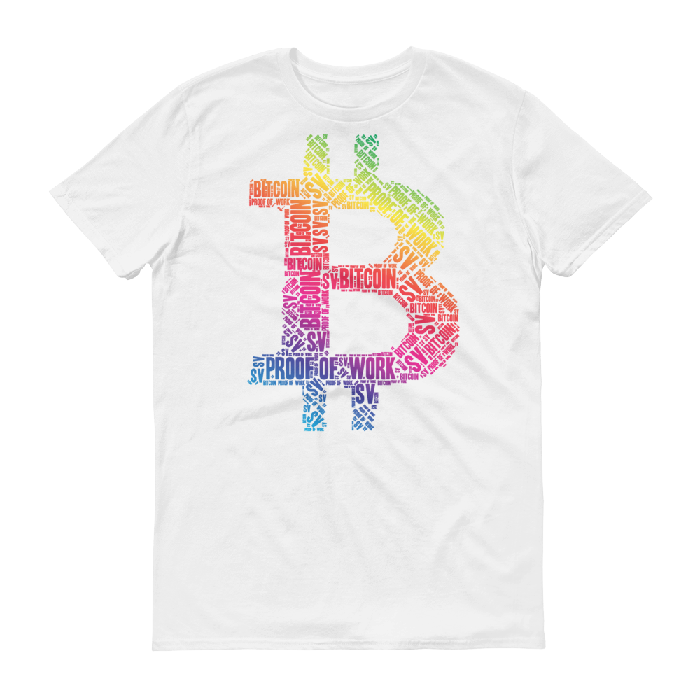 Bitcoin SV Proof Of Work Short-Sleeve T-Shirt White S - zeroconfs