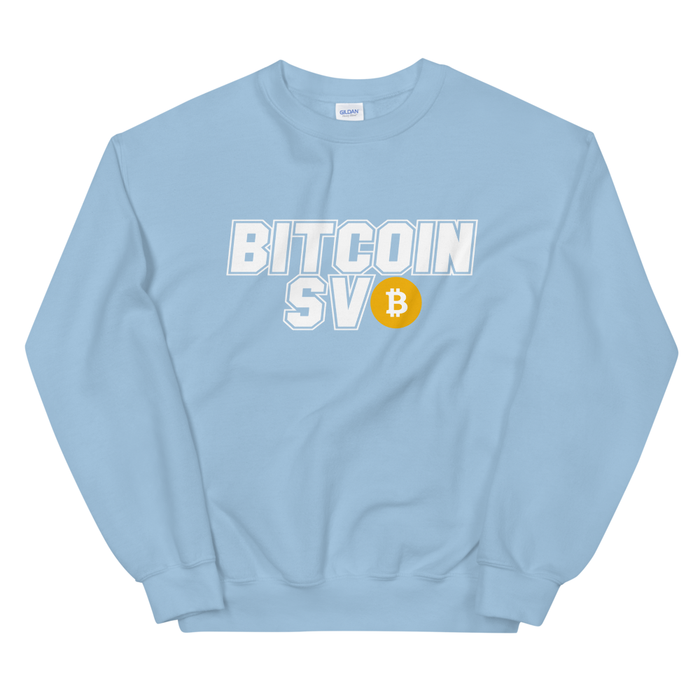 Bitcoin SV Sports Sweatshirt Light Blue S - zeroconfs