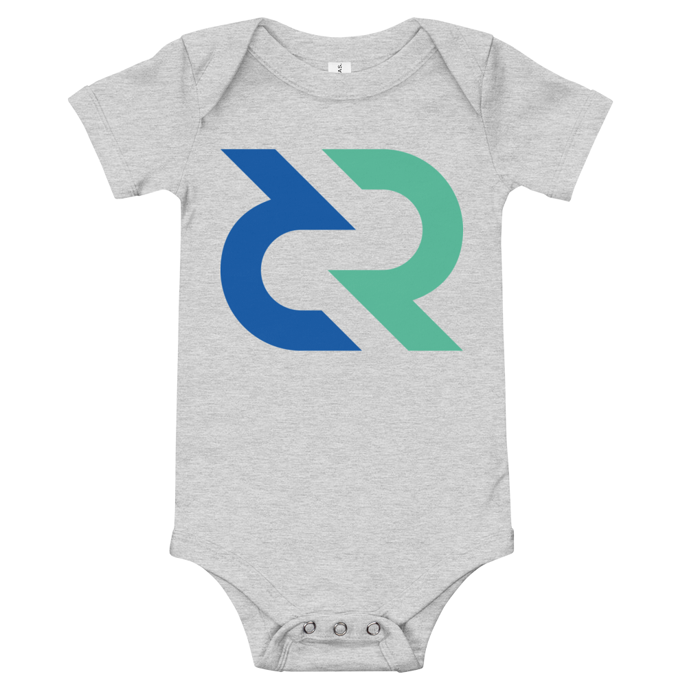 Decred Baby Bodysuit Athletic Heather 3-6m - zeroconfs