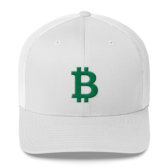 Bitcoin B Trucker Cap Green White  - zeroconfs