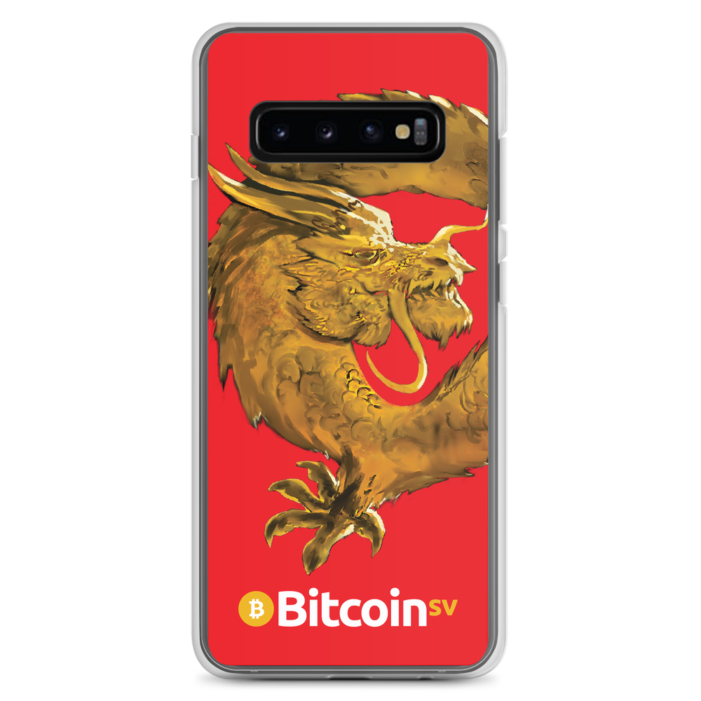 Bitcoin SV Woken Dragon Samsung Case Red Samsung Galaxy S10+  - zeroconfs