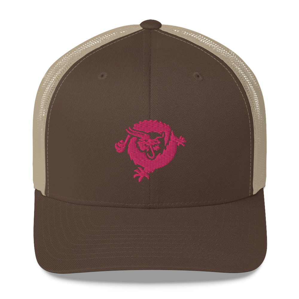 Bitcoin SV Dragon Trucker Cap Pink Brown/ Khaki  - zeroconfs