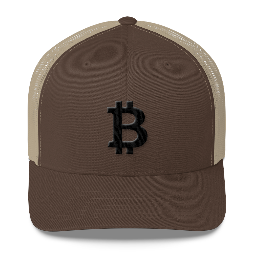 Bitcoin Blacknet SE Trucker Cap Brown/ Khaki  - zeroconfs