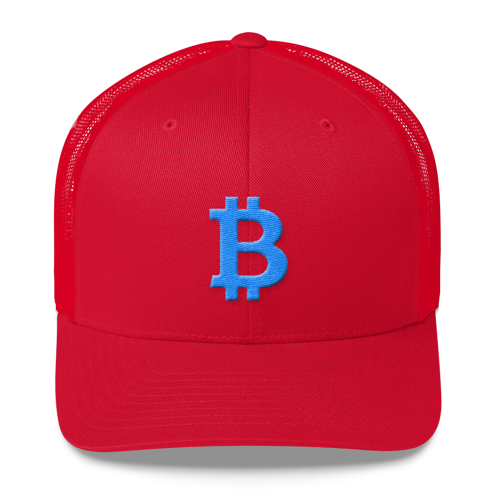Bitcoin B Trucker Cap Teal Red  - zeroconfs