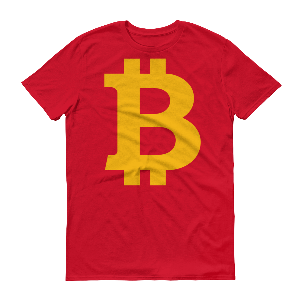 Bitcoin B Short-Sleeve T-Shirt Red S - zeroconfs