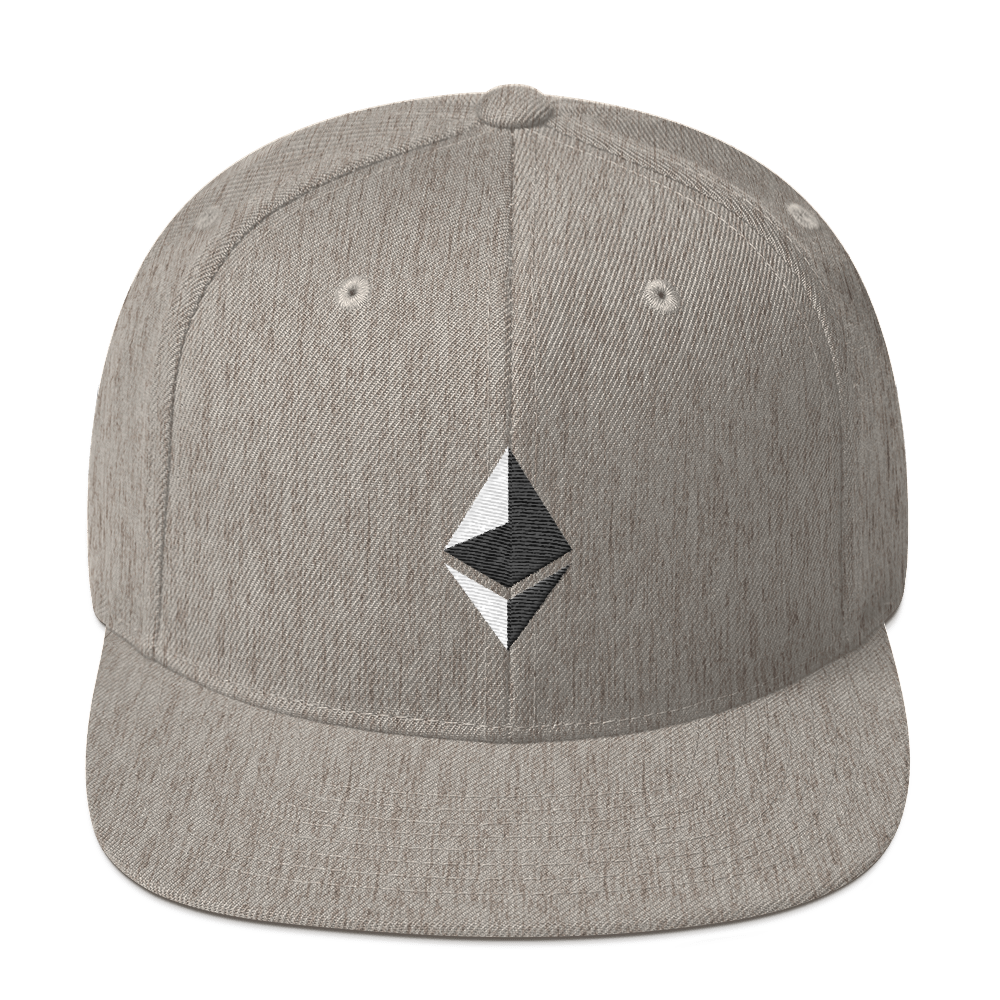 Ethereum Snapback Hat Heather Grey  - zeroconfs